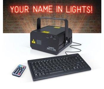 Laser Text Light