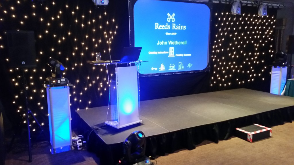 Stage equipment hire for meetings